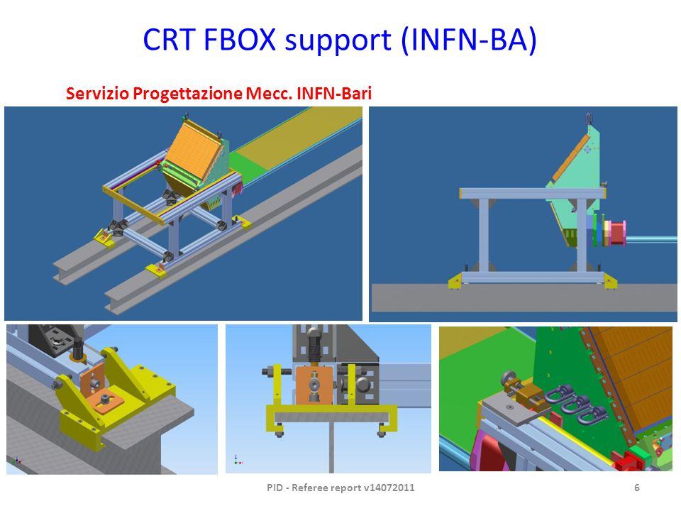 CRT FBOX support (INFN-BA) PID - Referee report v140720116 Servizio Progettazione Mecc. INFN-Bari