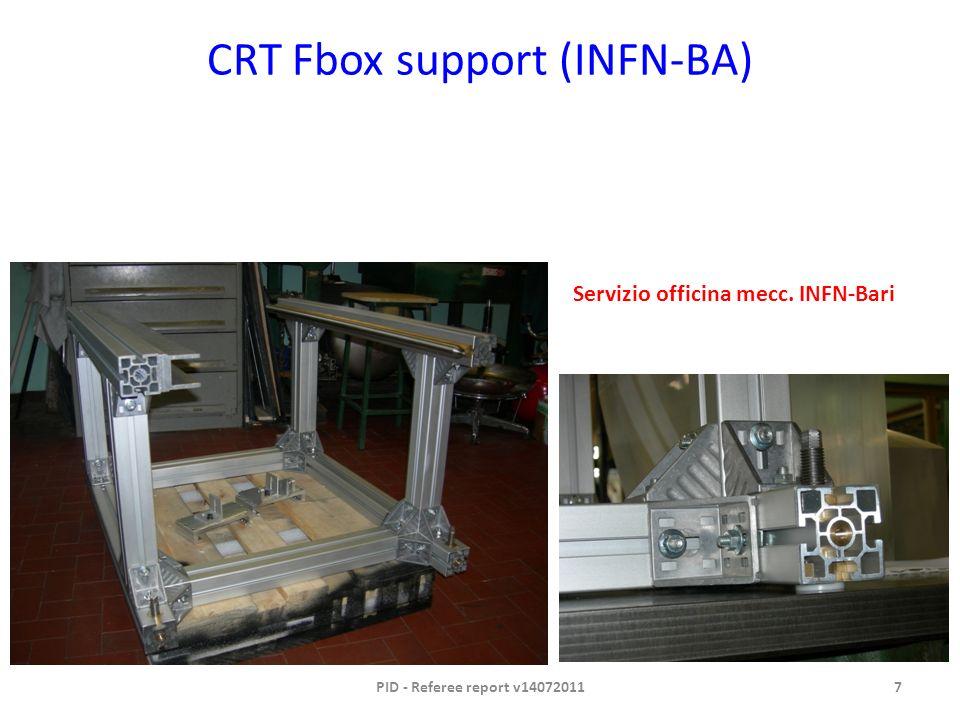 CRT Fbox support (INFN-BA) PID - Referee report v140720117 Servizio officina mecc. INFN-Bari