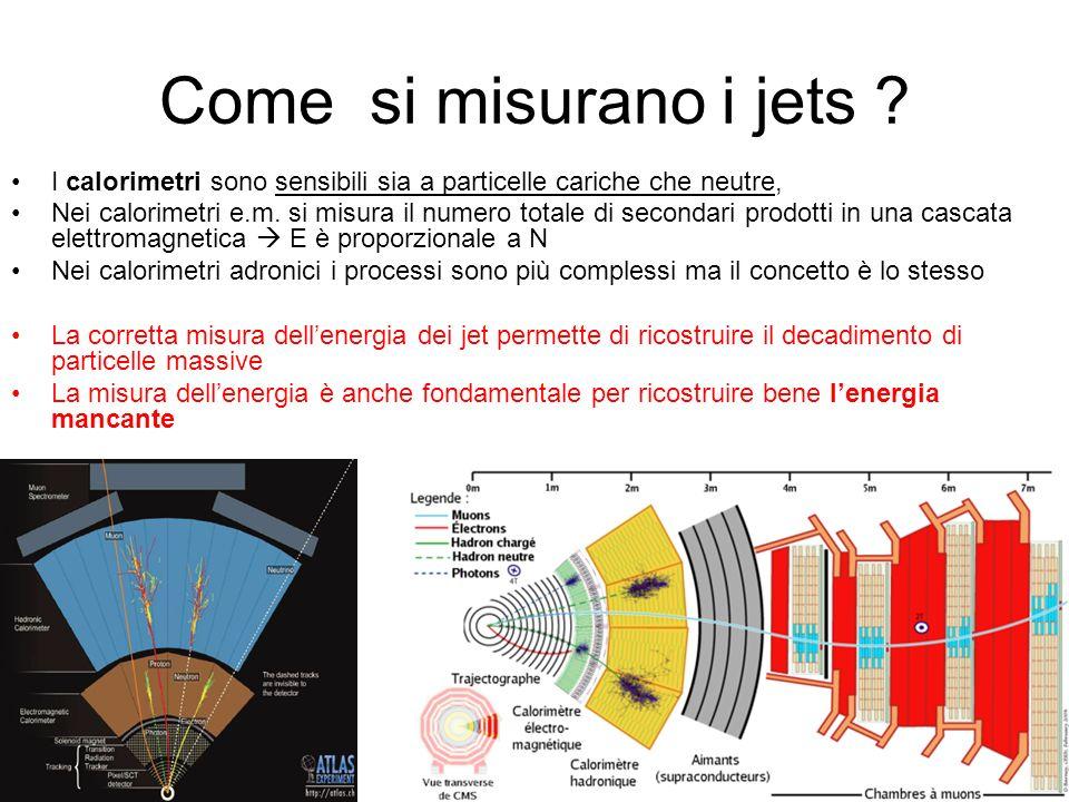 Come si misurano i jets .