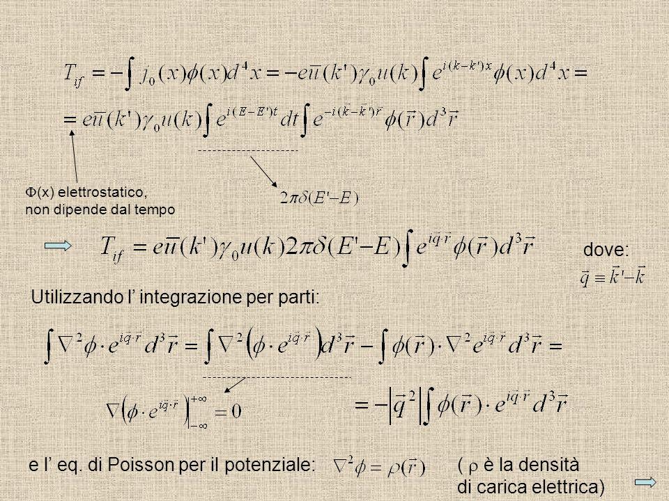 (x) elettrostatico, non dipende dal tempo Utilizzando l integrazione per parti: e l eq. di Poisson per il potenziale: ( è la densità di carica elettri