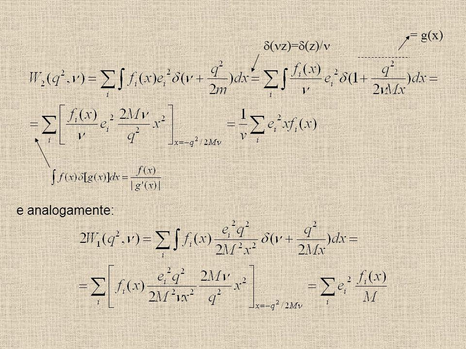 ( z)= (z)/ = g(x) e analogamente: