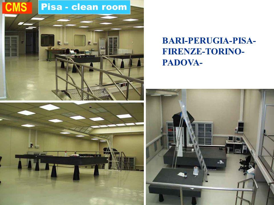 ROMA Pisa - clean room CMS BARI-PERUGIA-PISA- FIRENZE-TORINO- PADOVA-