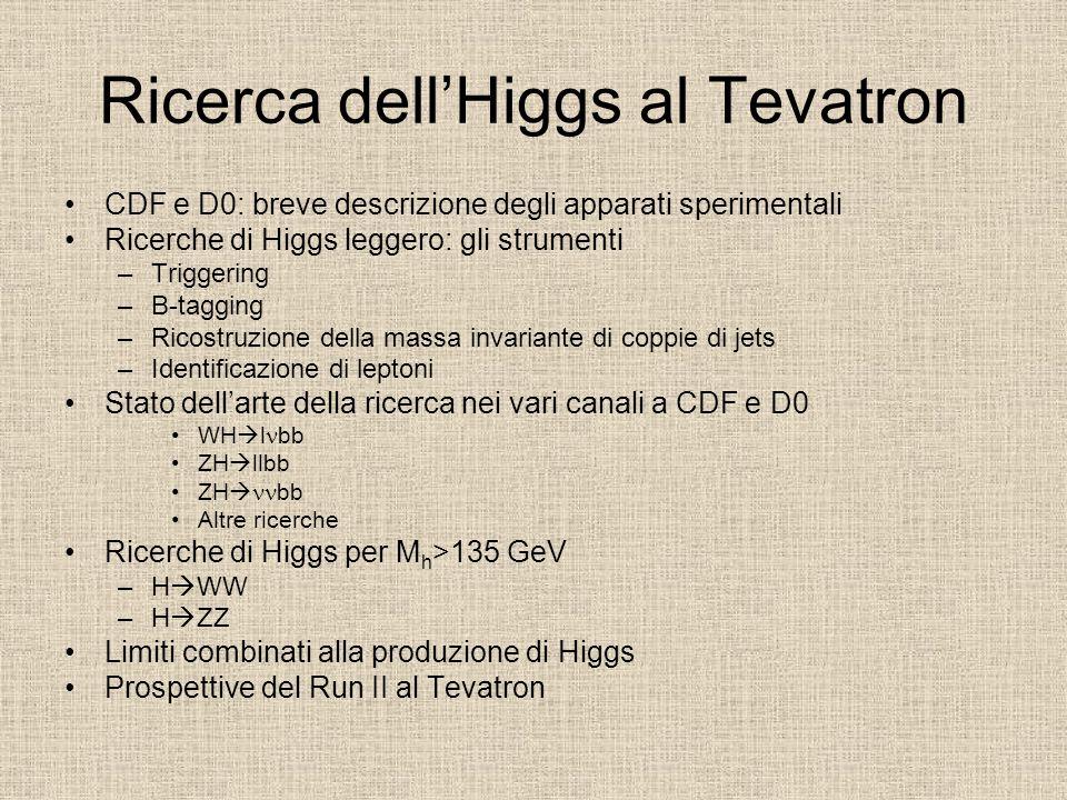 Ricerca dellHiggs al Tevatron CDF e D0: breve descrizione degli apparati sperimentali Ricerche di Higgs leggero: gli strumenti –Triggering –B-tagging