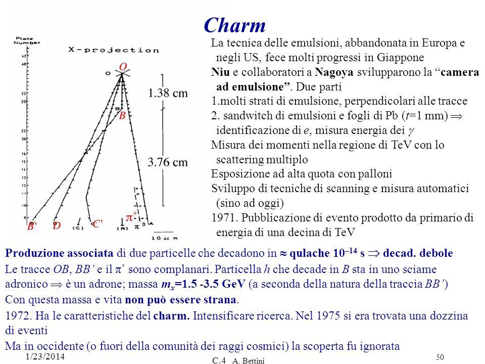 1/23/2014 C.4 A. Bettini 50 Charm La tecnica delle emulsioni, abbandonata in Europa e negli US, fece molti progressi in Giappone Niu e collaboratori a