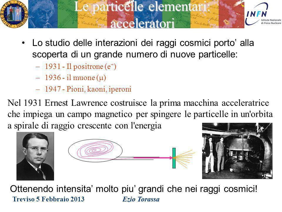Ezio Torassa Soprattutto Muoni ~ 200 Hz / m 2 Collisione con le molecole daria Protoni dallo spazio I raggi cosmici sono particelle cariche di alta en