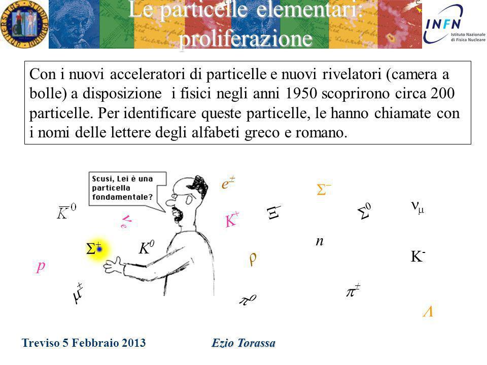 Treviso 5 Febbraio 2013 Ezio Torassa Le particelle elementari: acceleratori