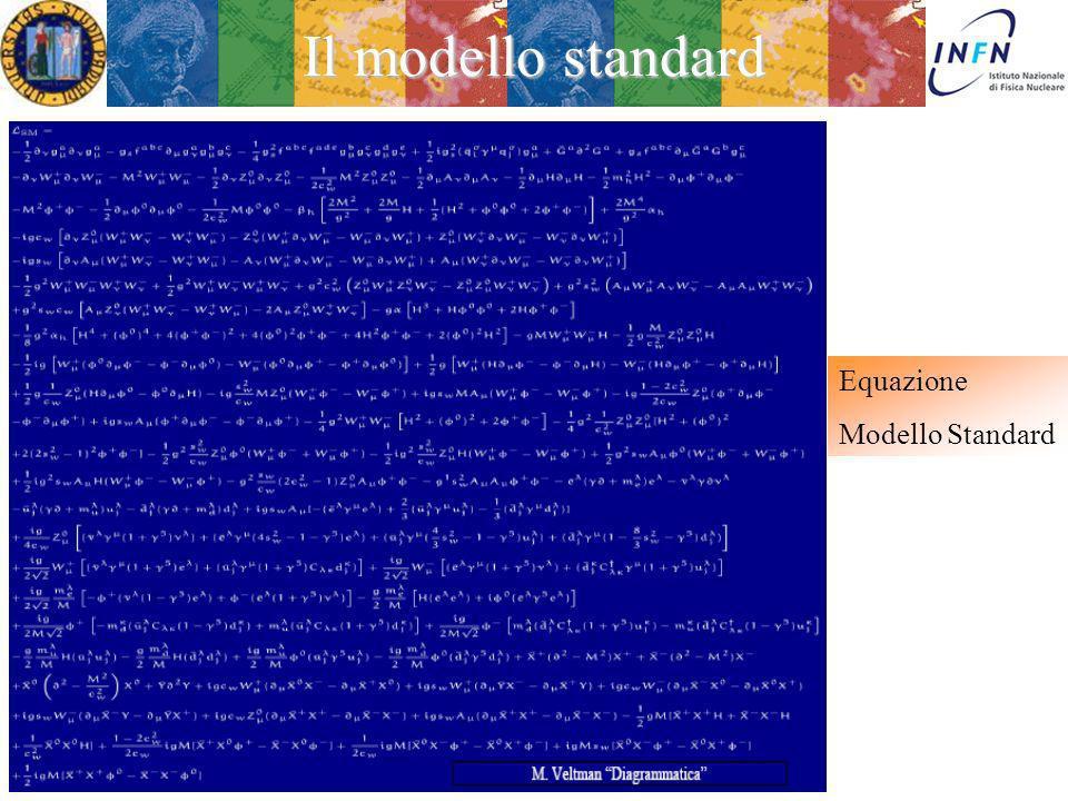 Ezio Torassa Il modello standard E lattuale descrizione delle interazioni elettro-deboli e forti dei costituenti fondamentali della materia quarks e leptoni, oggetti puntiformi di spin ½ E basata su due teorie di invarianza: QCD (Quantum CromoDynamics) : gruppo di summetria SU(3) di colore QE W D (Quantum ElectroweakDynamics) : gruppo di simmetria SU(2)xU(1) La sua bellezza sta nella capacità di descrivere: –tutta la materia –tutte le forze dell universo (escludendo per ora la gravità) Treviso 5 Febbraio 2013