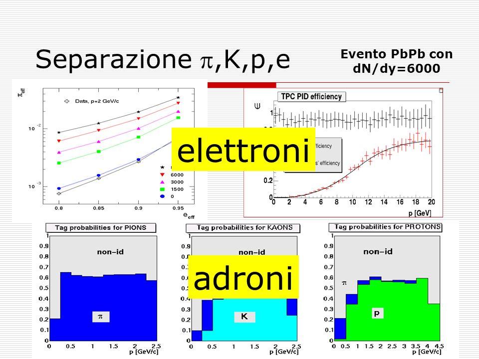 May 19, 2004Rosario Turrisi11 Separazione,K,p,e Evento PbPb con dN/dy=6000 elettroni adroni