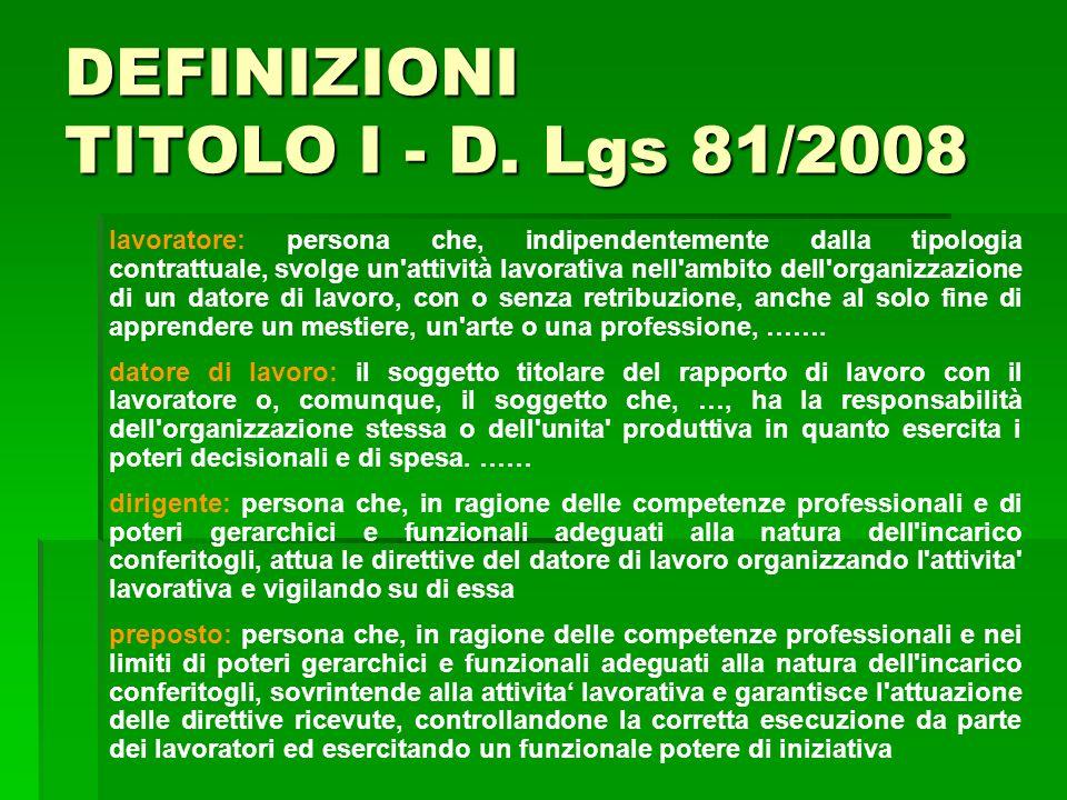 lavoratore: persona che, indipendentemente dalla tipologia contrattuale, svolge un'attività lavorativa nell'ambito dell'organizzazione di un datore di