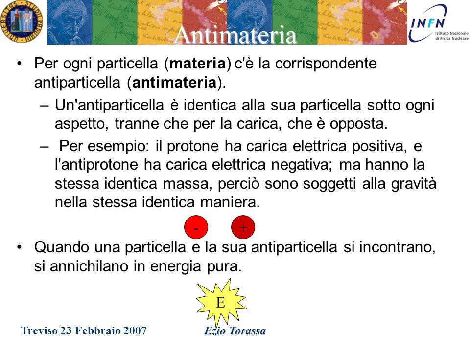 Treviso 23 Febbraio 2007Ezio Torassa Dove sono i quarks.