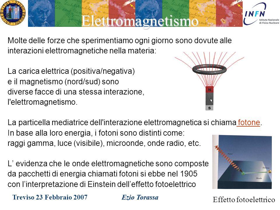 Treviso 23 Febbraio 2007Ezio TorassaGravita La forza gravitazionale è probabilmente la forza che ci è più familiare: –non è compresa nel Modello Stand
