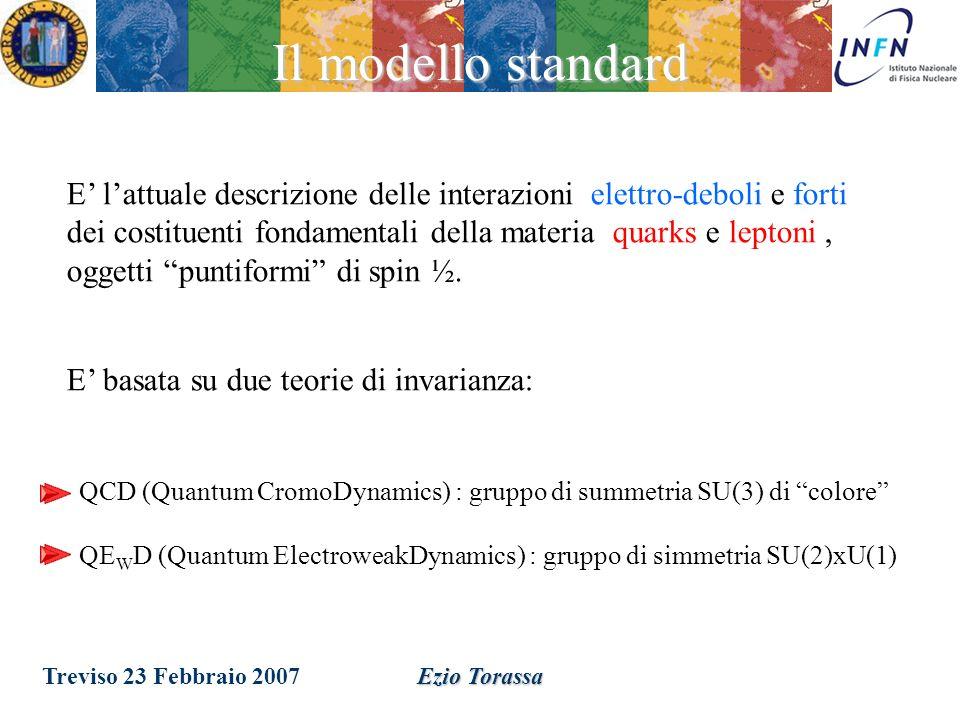 Treviso 23 Febbraio 2007Ezio Torassa Teoria ElettroDebole