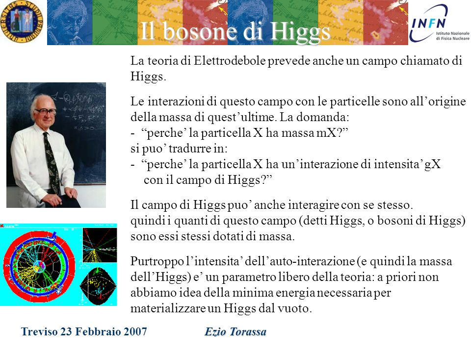 Treviso 23 Febbraio 2007Ezio Torassa Massa invariante (GeV) Numero di particelle