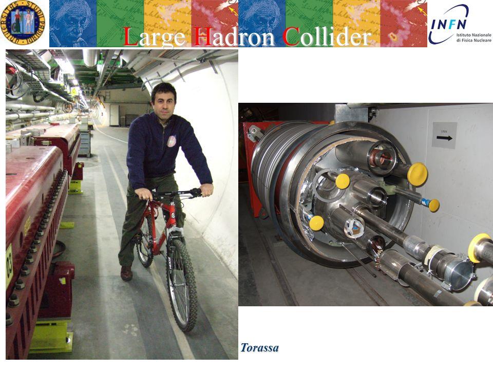 Treviso 23 Febbraio 2007Ezio Torassa Large Hadron Collider Nello stesso tunnel di LEP: 4 esperimenti: - ATLAS, CMS general pourpuse - ALICE ioni pesanti - LHCb fisica del b