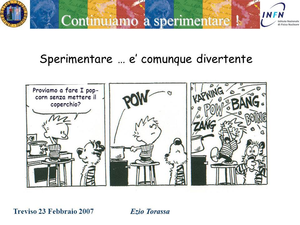 Treviso 23 Febbraio 2007Ezio Torassa Lidea e di andare ad energie sempre maggiori per ottenere un panorama piu completo La Big Picture Ce bisogno di nuovi esperimenti ed idee.