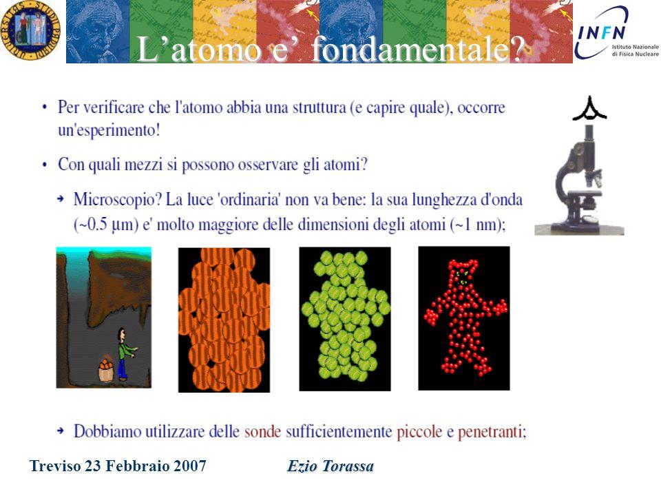 Treviso 23 Febbraio 2007Ezio Torassa Alchimia Chimica (1780 1870) – Classificazione degli atomi in base alle proprieta chimiche – Evidenza di una peri