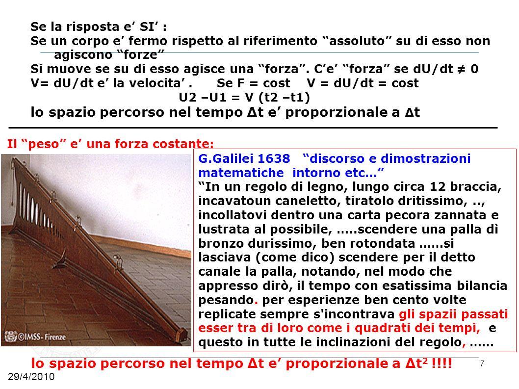 8 mgmg Y Y X θ θ mg sin θ i -mg cos θ j Scelta assi: Y perpendic.