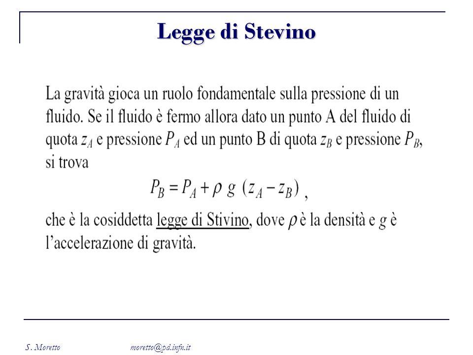 S. Moretto moretto@pd.infn.it Legge di Stevino
