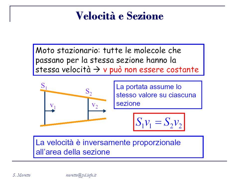 S. Moretto moretto@pd.infn.it Velocità e Sezione
