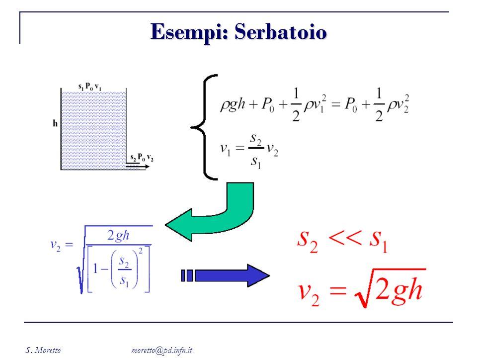 S. Moretto moretto@pd.infn.it Esempi: Serbatoio