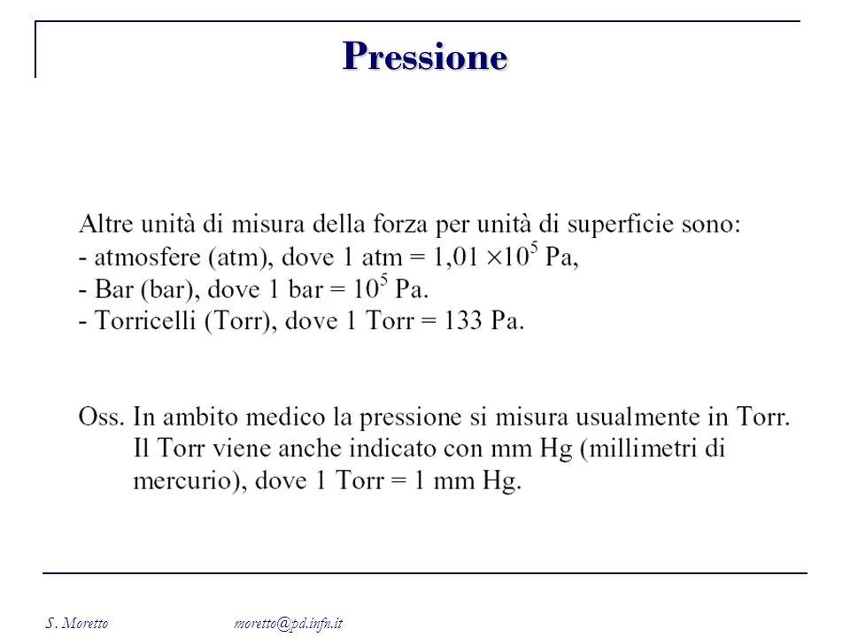 S. Moretto moretto@pd.infn.it Pressione