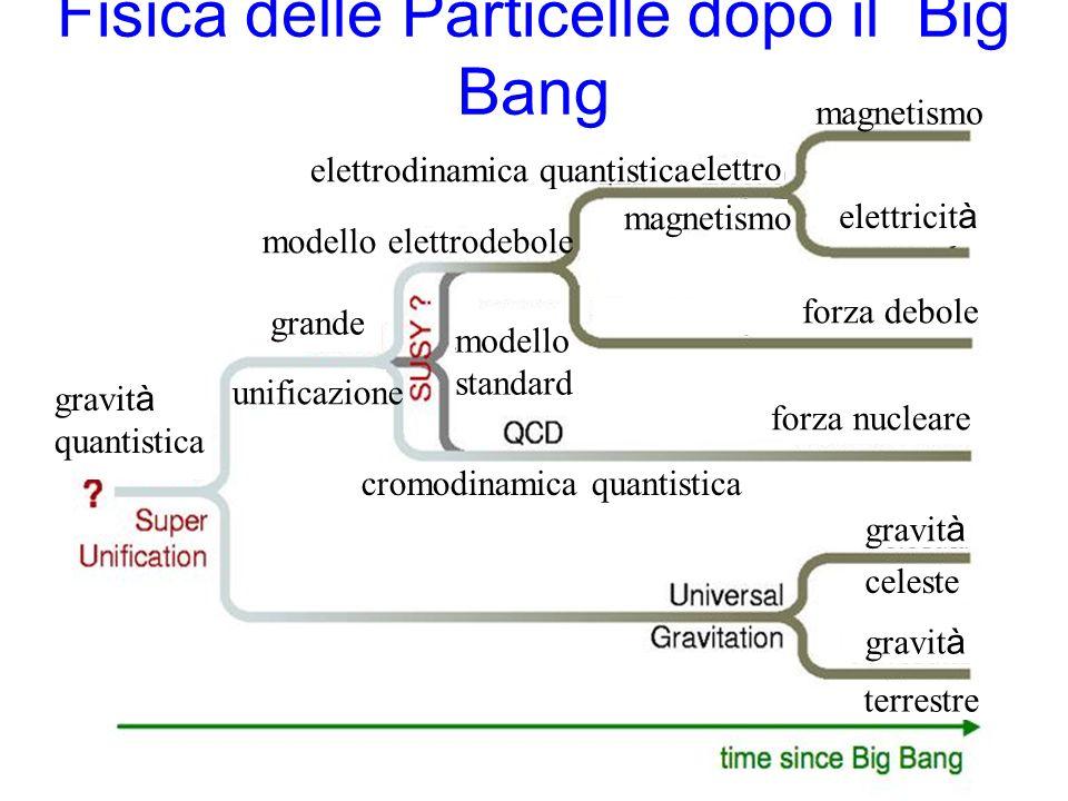 Fisica delle Particelle dopo il Big Bang magnetismo elettricit à forza debole forza nucleare gravit à celeste terrestre magnetismo elettro elettrodinamica quantistica modello elettrodebole modello standard cromodinamica quantistica grande unificazione gravit à quantistica