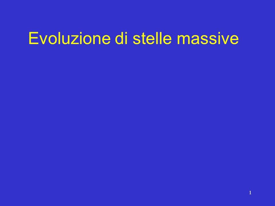 1 Evoluzione di stelle massive