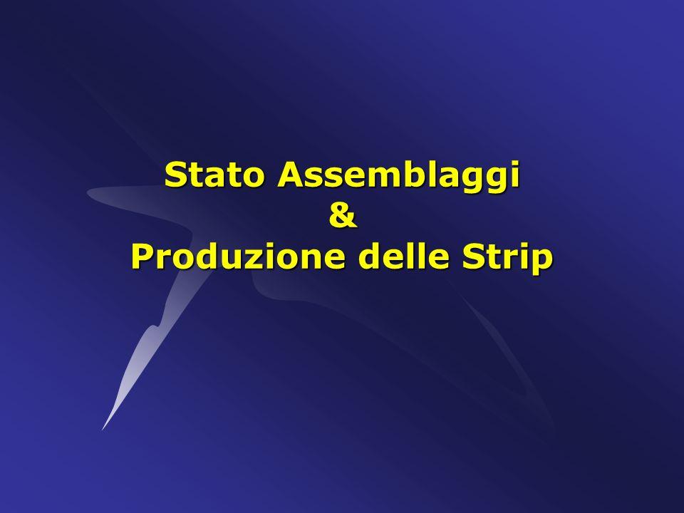 Stato Assemblaggi & Produzione delle Strip