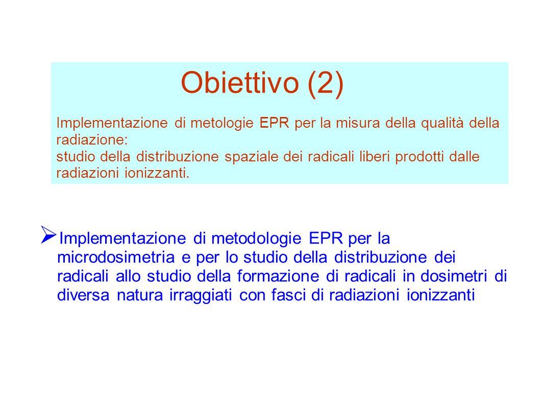 Implementazione di metologie EPR per la misura della qualità della radiazione: studio della distribuzione spaziale dei radicali liberi prodotti dalle radiazioni ionizzanti.