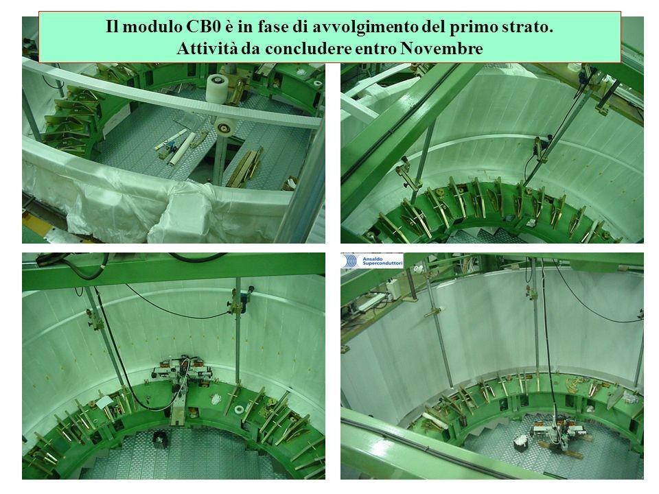 Il modulo CB0 è in fase di avvolgimento del primo strato. Attività da concludere entro Novembre