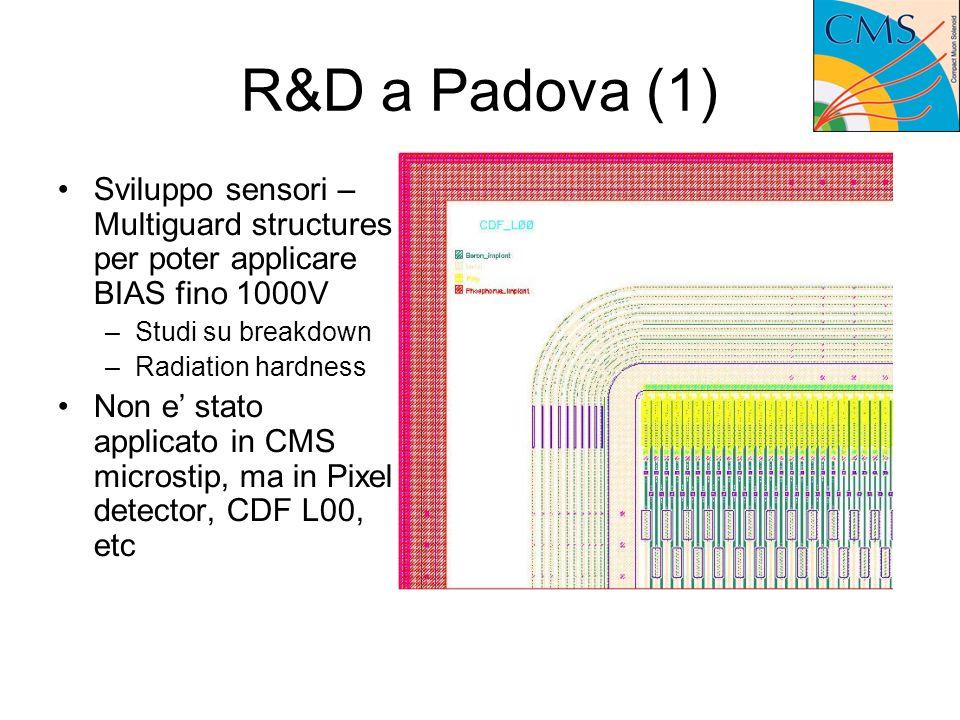 R&D a Padova (2) Sviluppo librerie RadHard per il processo CMOS 0.25um: enclosed gate transistor.