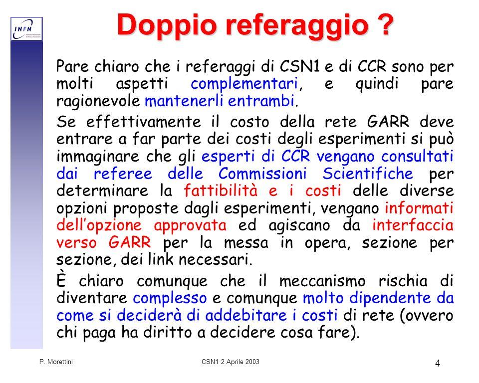 CSN1 2 Aprile 2003 P.Morettini 4 Doppio referaggio .