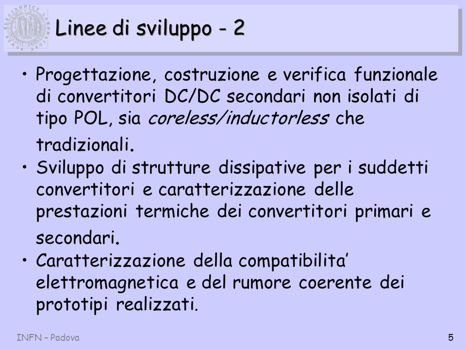 INFN – Padova6 Alimentazioni distribuite POL 280 V DC DC/DC POL Isolated Main Converter DC 12V 5% Regulated DC bus voltage Step-down POL Converters