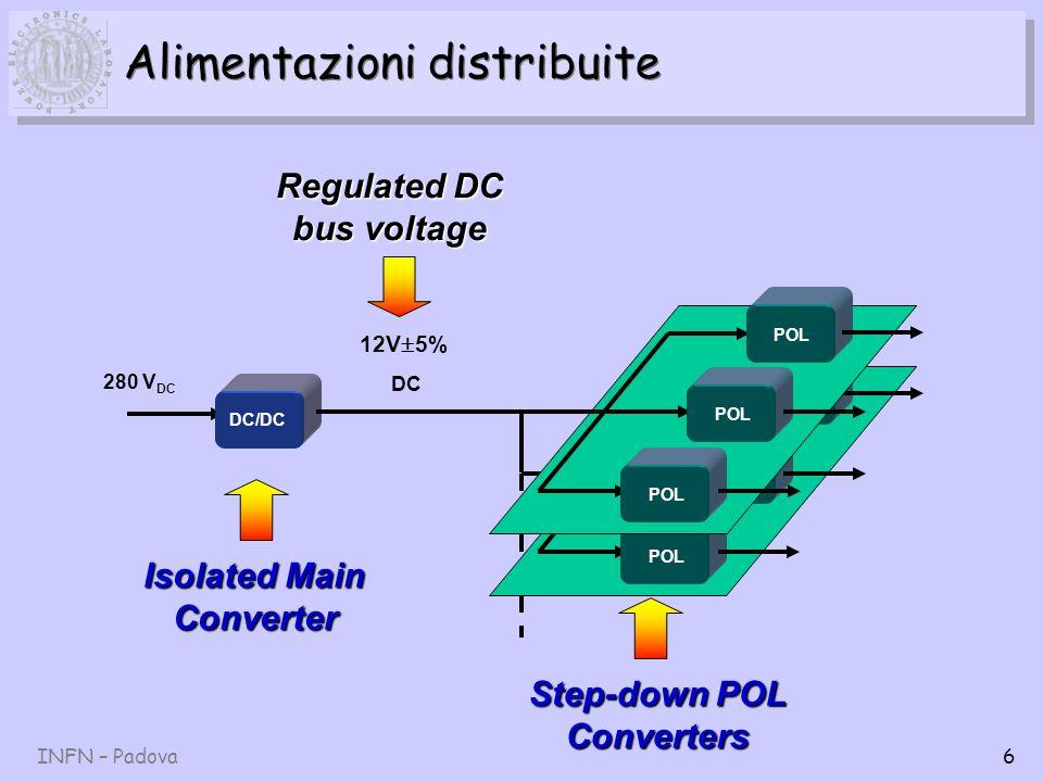 INFN – Padova17 Richieste servizi di sezione Attività principali: 1.Saldatura componenti su PCB.
