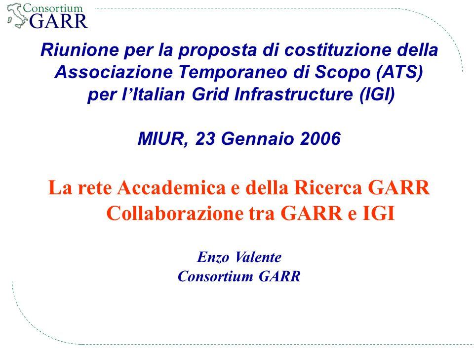 22 IGI-GARR 23-gennaio-2006 CERN T0 IN2P3 PIC CNAF RAL GRIDKa Nordugrid TRIUMF ASCC SARA BNL FNAL DK UK NL DE IT ES FR GEANT2 LHC TIER0 – TIER1 Optical Private Network - OPN CH
