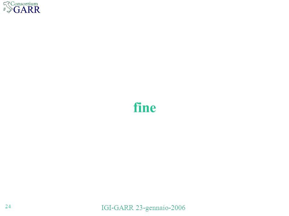 24 IGI-GARR 23-gennaio-2006 fine