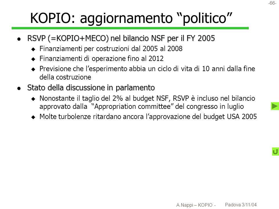 -67- A.Nappi – KOPIO - Padova 3/11/04 RSVP