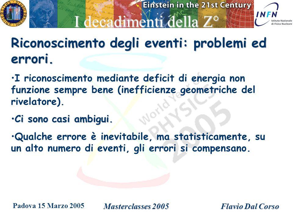 Padova 15 Marzo 2005 Masterclasses 2005Flavio Dal Corso Vita media del B + Decadimento del mesone B + nei mesoni J/ e K + u b c c u s B+B+ K+K+ J/ L