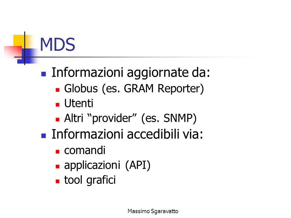 Massimo Sgaravatto MDS Informazioni aggiornate da: Globus (es.