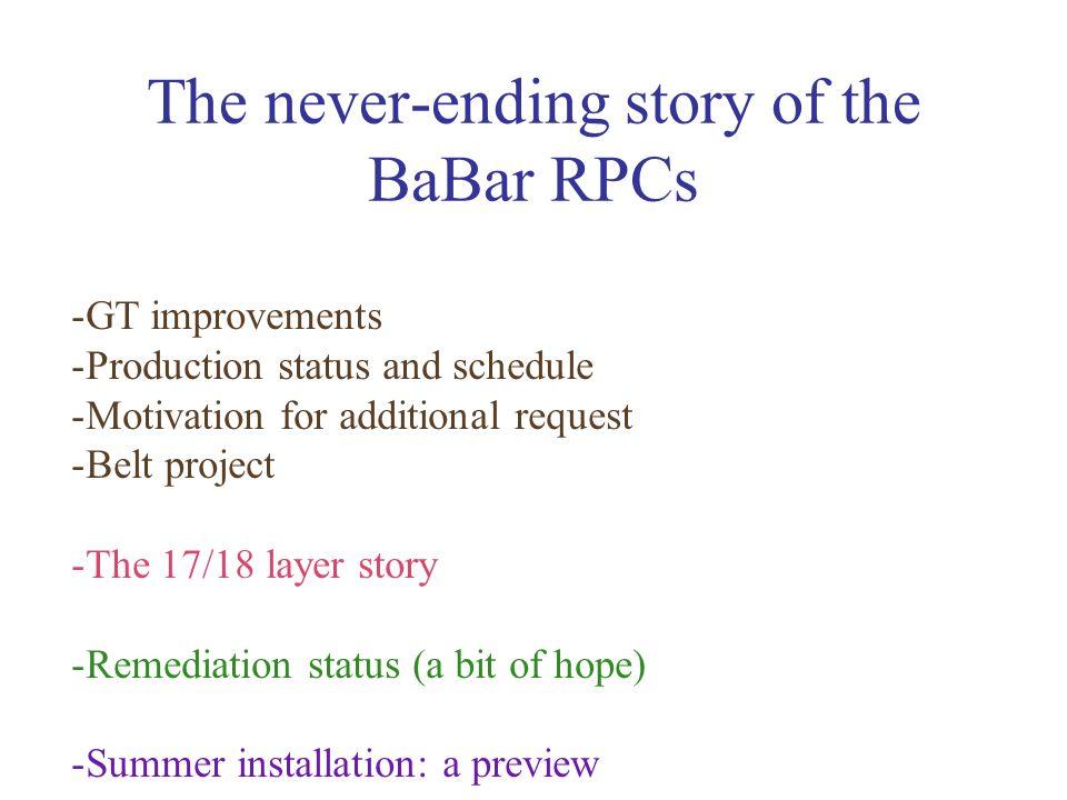 Production technology improvements http://www.pd.infn.it/CSN1/riunioni/18-12-2001/morganti_rel_rpc.pdf