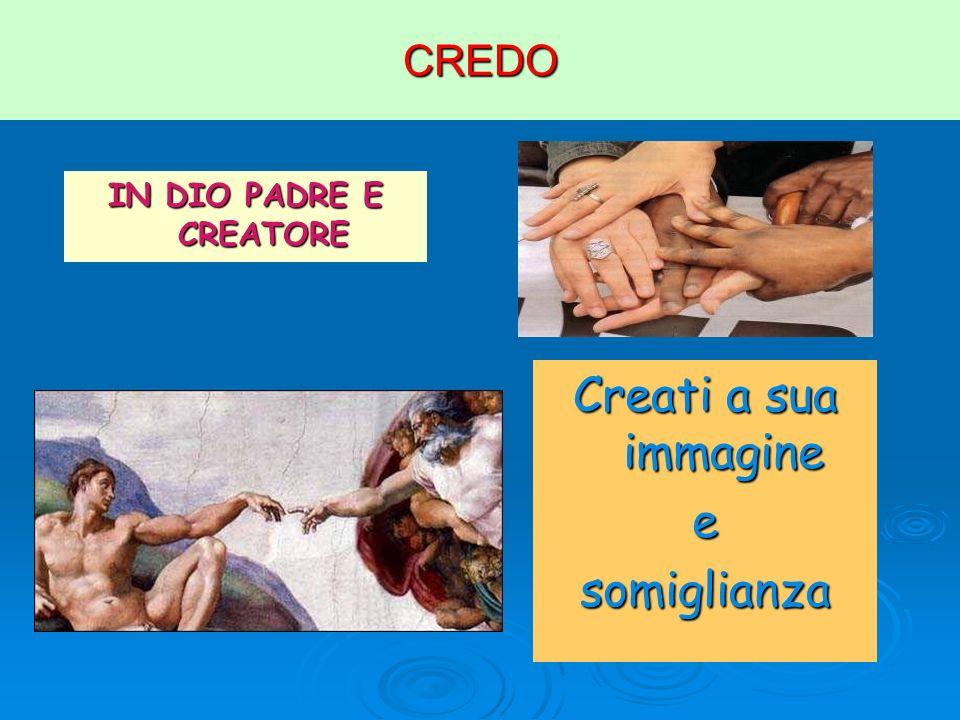 CREDO IN DIO PADRE E CREATORE Creati a sua immagine esomiglianza