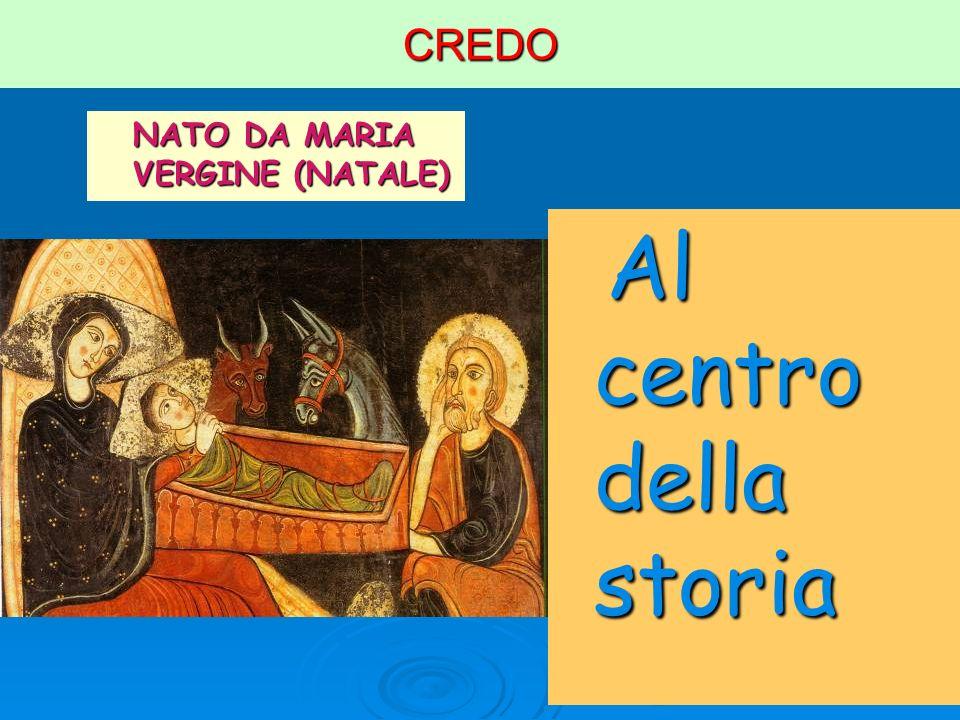 CREDO NATO DA MARIA VERGINE (NATALE) Al centro della storia Al centro della storia