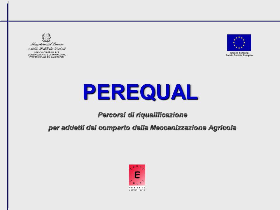 PEREQUALPEREQUAL Percorsi di riqualificazione per addetti del comparto della Meccanizzazione Agricola