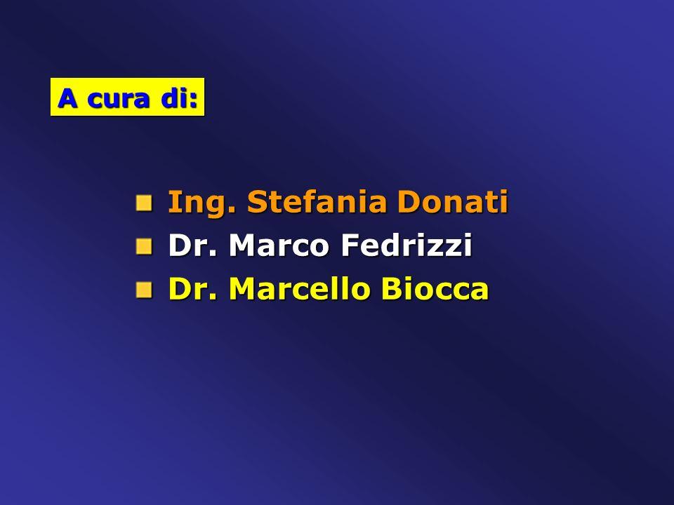 Ing. Stefania Donati Ing. Stefania Donati Dr. Marco Fedrizzi Dr. Marco Fedrizzi Dr. Marcello Biocca Dr. Marcello Biocca A cura di: