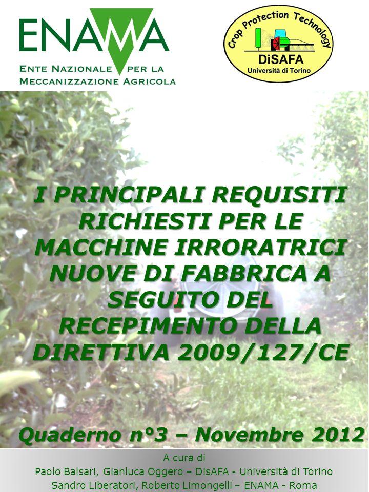 LA DIRETTIVA 127/2009 CE Il Decreto Legislativo n.