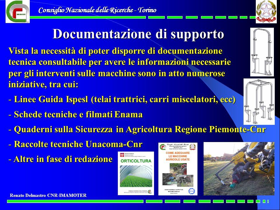 Consiglio Nazionale delle Ricerche - Torino Renato Delmastro CNR-IMAMOTER Documentazione di supporto Vista la necessità di poter disporre di documenta