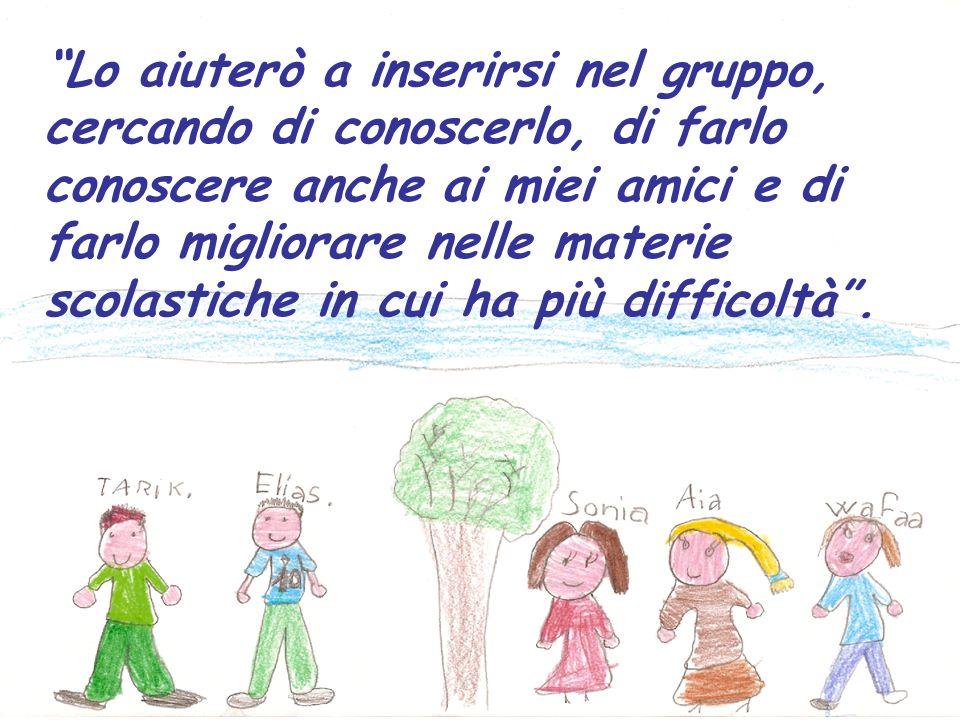 Penso che avere a scuola dei ragazzi stranieri possa arricchire le conoscenze di un bambino e aiutarlo a socializzare senza timidezza con gli altri.