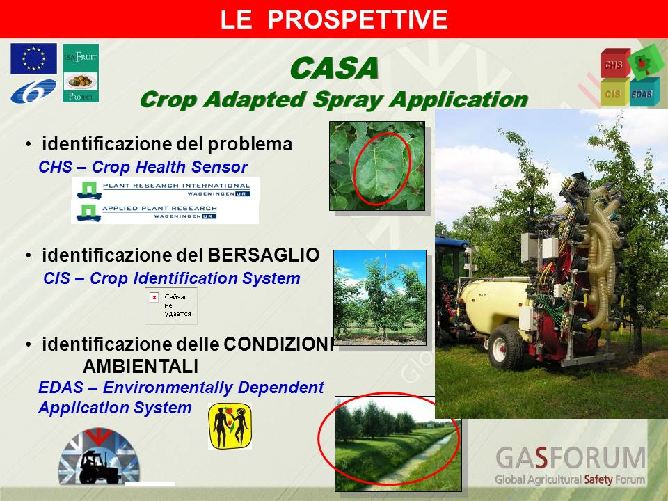 identificazione del problema CHS – Crop Health Sensor identificazione del BERSAGLIO CIS – Crop Identification System identificazione delle CONDIZIONI