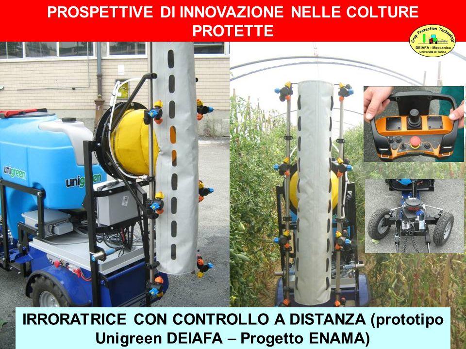 IRRORATRICE CON CONTROLLO A DISTANZA (prototipo Unigreen DEIAFA – Progetto ENAMA) PROSPETTIVE DI INNOVAZIONE NELLE COLTURE PROTETTE