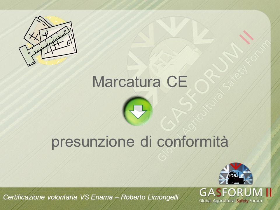 Marcatura CE presunzione di conformità Certificazione volontaria VS Enama – Roberto Limongelli